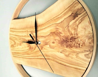 Wooden Large Wall Clock, Modern Wall Clock, Wood Wall Clock, Handmade wooden clock, Unique wall clocks, Natural Wall Clocks