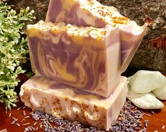 Lavender Lemon Swirl Soap Bar