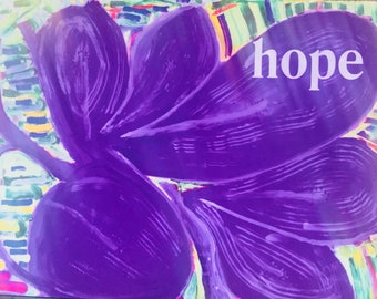 Flower cards-spiritual-rustic-nature-10 to a box-5 flower designs-each has a word-HOPE,PEACE,LOVE,harmony,joy-with envelopes-blank inside