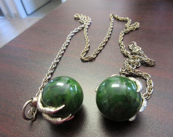 Bakelite Claw Balls Necklace