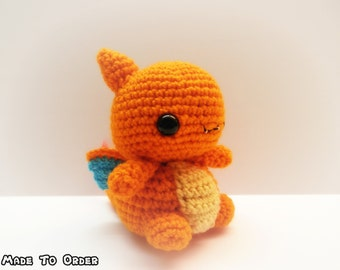Crochet Charizard Inspired Chibi Pokemon