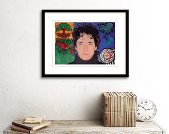 Gustavo Cerati, Oil Painting Fine Art Print, Reproduction, Poster.