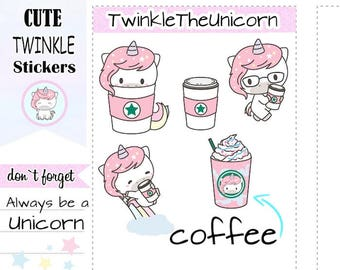 cappuccino stickers, cappuccino planner stickers, kawaii stickers, cute stickers, decorative sticker, functional stickers A175