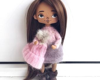Handmade doll, art doll, textile doll, interior doll, collection doll, ooak doll