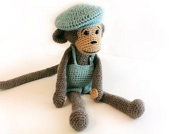 Crochet PATTERN Monkey, Monkey, Amigurumi Monkey, Stuffed Animals, Crochet Animals, Crochet Stuffed animals Toy, baby shower