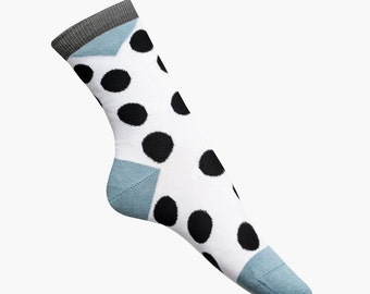 nice socks dots big blue