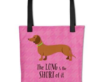 Dachshund, Doxie, Weiner Dog Tote Bag