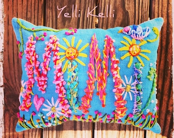 Special Size Bohemian Name Pillow Made To Order YelliKelli