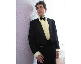 30's Vintage Men's Tuxedo Tailcoat Suit Tails 40 Ch/ 30 W.