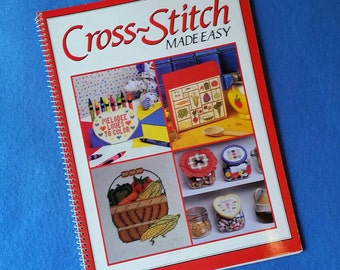 Cross-stitch Made Easy - vintage spiral bound counted cross stitch pattern chart book