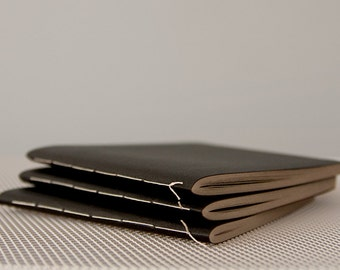 Square Black Acrylic Coated Softcover Notebook