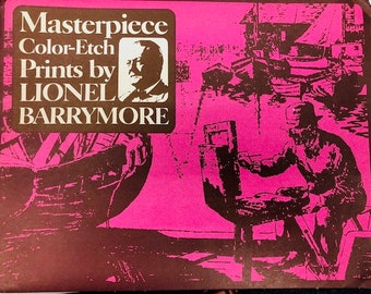 Masterpiece Color-Etch Prints by Lionel Barrymore, 4 Print Set American Art, Nantucket, The Old Farm, Rocky Point, Old Nantucket
