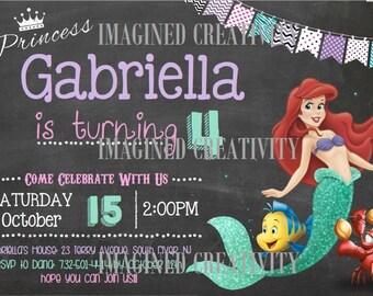 Little Mermaid Birthday Invitation