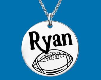 Football Necklace | Football Jewelry | Football Gifts | Football Mom | Sports Jewelry | Personalized Jewelry | Apla Agapa