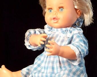 """Vintage Doll Rub a Dub Dolly 1989 Ideal Bathtime Toy Blue Eyes 16"""""""