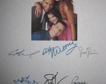 Will and & Grace Signed TV Screenplay Script Pilot X6 Debra Messing Eric McCormack Sean Hayes Megan Mullally autographs signatures