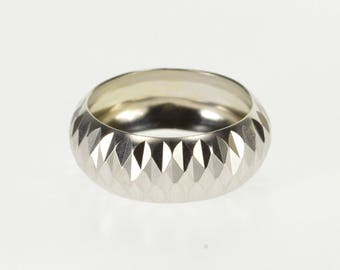 14k Pressed Studded Lattice Patterned Band Ring Gold