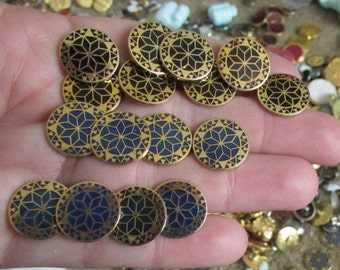 mosaic buttons set of 8