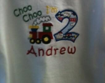 Choo Choo I'm 2 Birthday Shirt