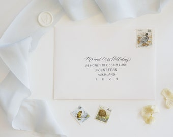 Calligraphy Envelope Addressing - Modern Calligraphy and Capitals Font