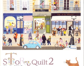 Out-Of-Print Master Yukari Takahara Collection - Story Quilt 02 - Japanese craft book