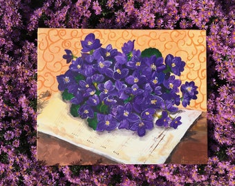 Violets with Notes