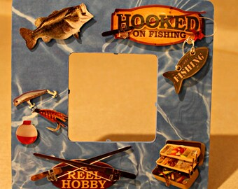 Fishing/ Hooked on fishing /Fishing/Picture frame