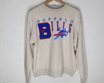 Rare!! Vintage 90's BUFFALO BILLS Sweatshirt Big Logo Buffalo Spell out hip hop Nfl team