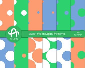 Melon Digital Paper Downloads Digi Patterns Download Crafts Stationery