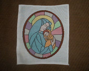 Handmade embroidery - Virgin child