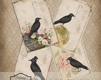 Jahrgang Crow Postkarten sofortiger digitaler Download