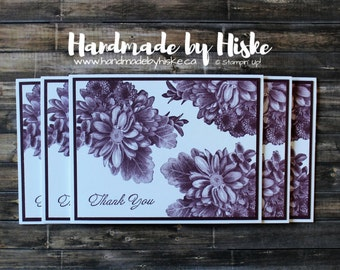 Thank You Cards; Stampin' Up! Cards; Handmade Cards; Greeting Cards; Heartfelt Blooms Stamp Set; Fresh Fig; Thank You