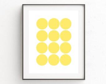 Yellow Wall Art, Geometric Wall Art, Abstract Art Prints, Yellow Art, Geometric Print, Scandinavian Art, Geometric Art, Printable Wall Art