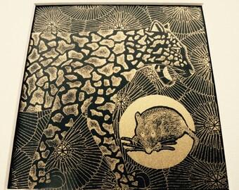 Gold Screen Printed Jaguar by Quantum