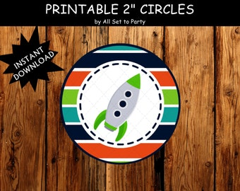 Space Birthday Party Printable Decorations, Rocket Ship Party, Outer Space Party, Cupcake Toppers, Astronaut Party, DIY -Instant Download