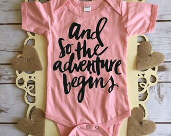 And So the Adventure Begins - Pregnancy Announcement Bodysuit