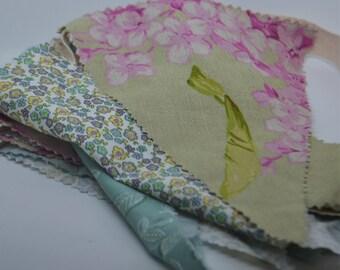 Shabby Chic Fabric Bunting