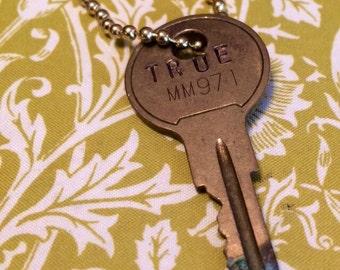 Custom stamped key TRUE