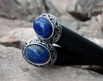 Lapis Lazuli Hair Sticks Blue Gemstone Set of Two Minimalist Sets Pairs Everyday Hairsticks Sets of Hair Chopstick Hair Pins - Kyeema 3298