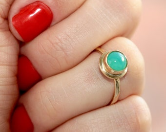 Mint Green Ring * Green Ring * Stone Ring * Stackable Rings * Little Rings * Ring Green * Petite Ring * Small Ring * Stone Ring * Mint Green