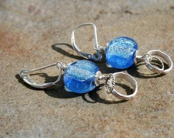 LOLLIPOP Glass and Sterling Earrings