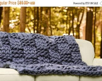 CHUNKY KNIT Blanket, Arm Knit Blanket,Giant Knit,Merino Wool Blanket, Super Chunky Blanket,Handmade, Extreme Knitting