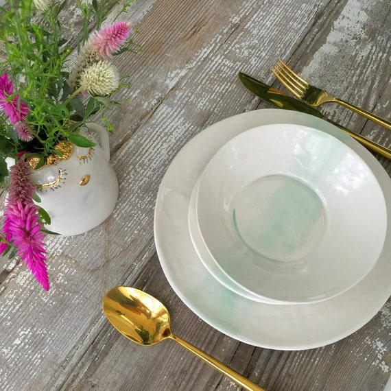 Linen Watercolor Dinnerware