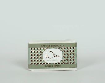 Sapone Naturale Biologico Tiglio e Malva Natural Handmade Soap