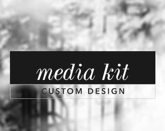 Custom Media Kit Design, Media Kit Design For Bloggers, Blog Media Kit, Blogger Media Pack, Business Press Kit, Press Pack, PDF Design