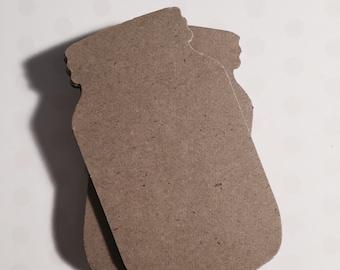 Mason Jar Tags in Kraft Cardstock - 40