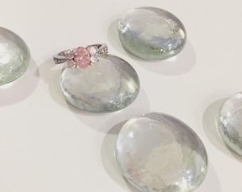 pink oval diamond ring