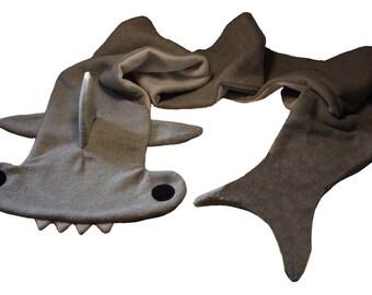 Hammerhead Shark Fleece Scarf