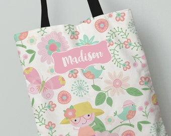 Tote Bag | Little Caterpillar Tote Bag | Great Gift Idea | Personalized All Over Print Tote Bag | Canvas Tote Bag