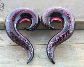 Dichroic Purple Long Spirals